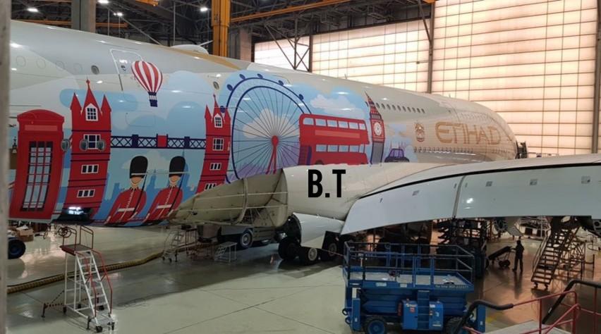 Londen Airbus A380 Etihad