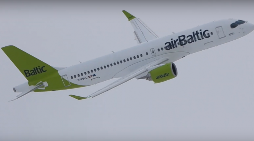AirBaltic A220 nieuw kleurenschema