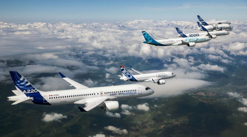 Airbus familievlucht