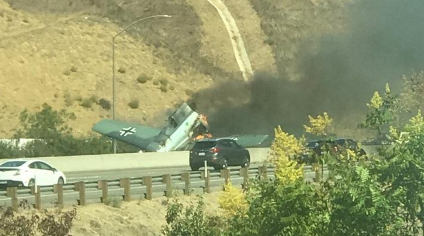 Crashlanding op snelweg