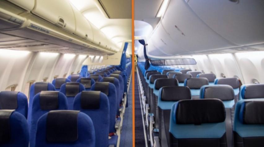 KLM 737 Oud en nieuw Interieur