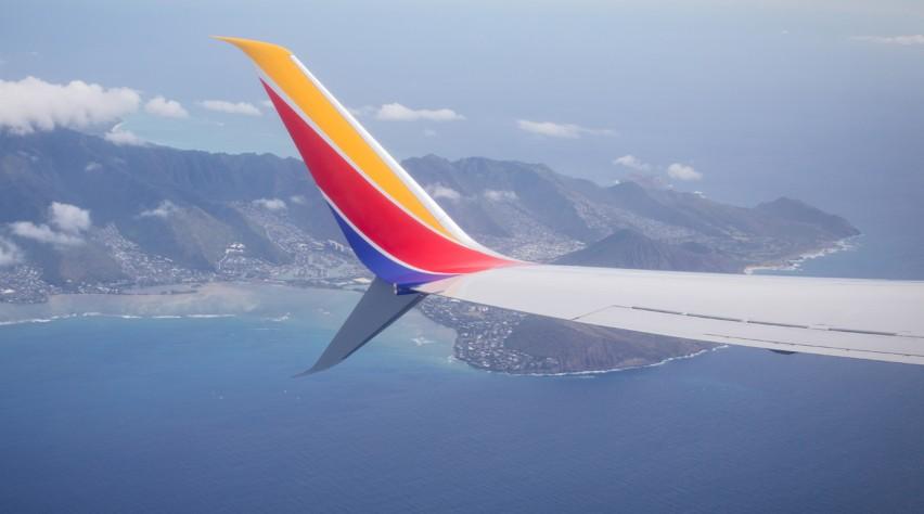 Southwest Airlines vleugel MAX
