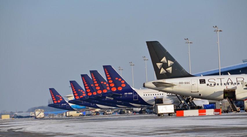 Brussels Airport sneeuw winter
