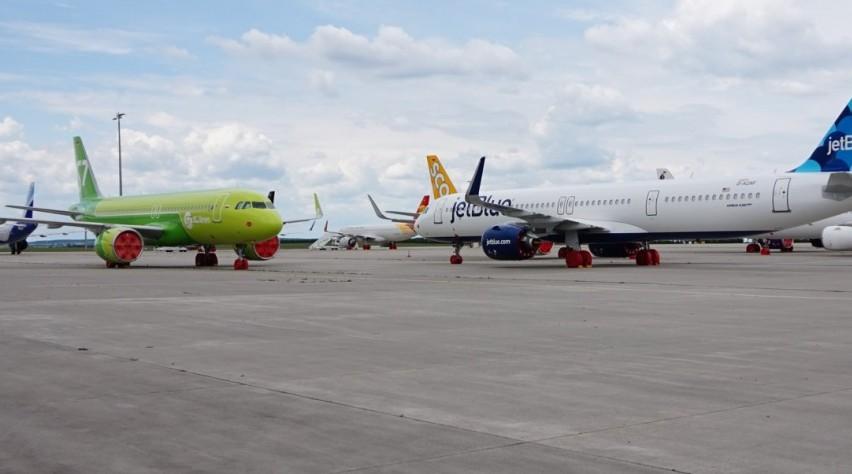 Ongeleverde Airbussen