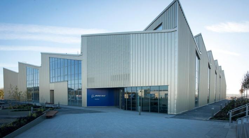 De nieuwe Boeing-fabriek in Sheffield