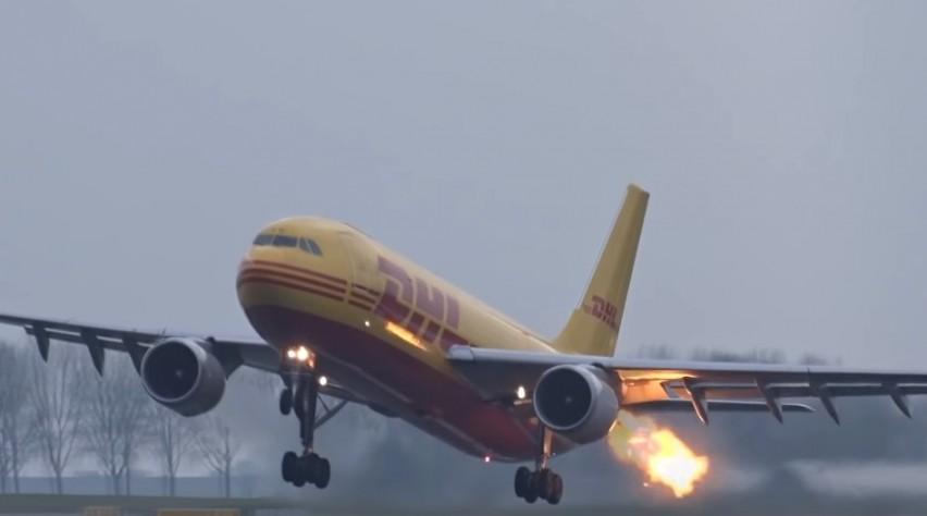 DHL A300 Schiphol Birdstrike