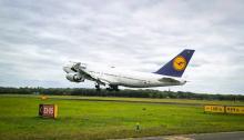 Laatste Lufthansa 747 Twente