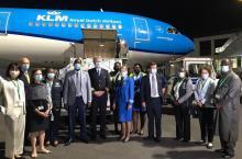 Vaccinlevering Rwanda KLM