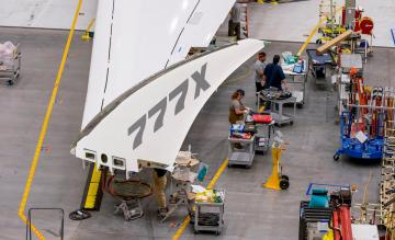 Boeing 777X opvouwbare wingtip