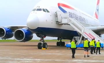 British Airways A380 Chateauroux Airport