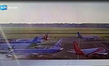 KLM easyJet botsing