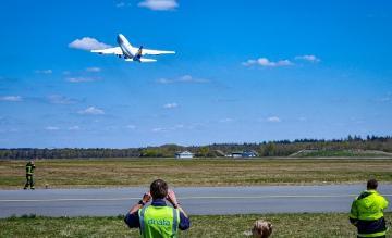 Lufthansa 747 Vertrek Twente