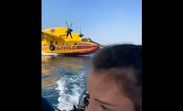 Blusvliegtuig boot