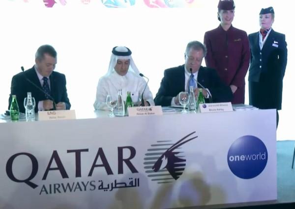 Qatar Airways IAG Oneworld Willie Walsh Akbar Al Baker