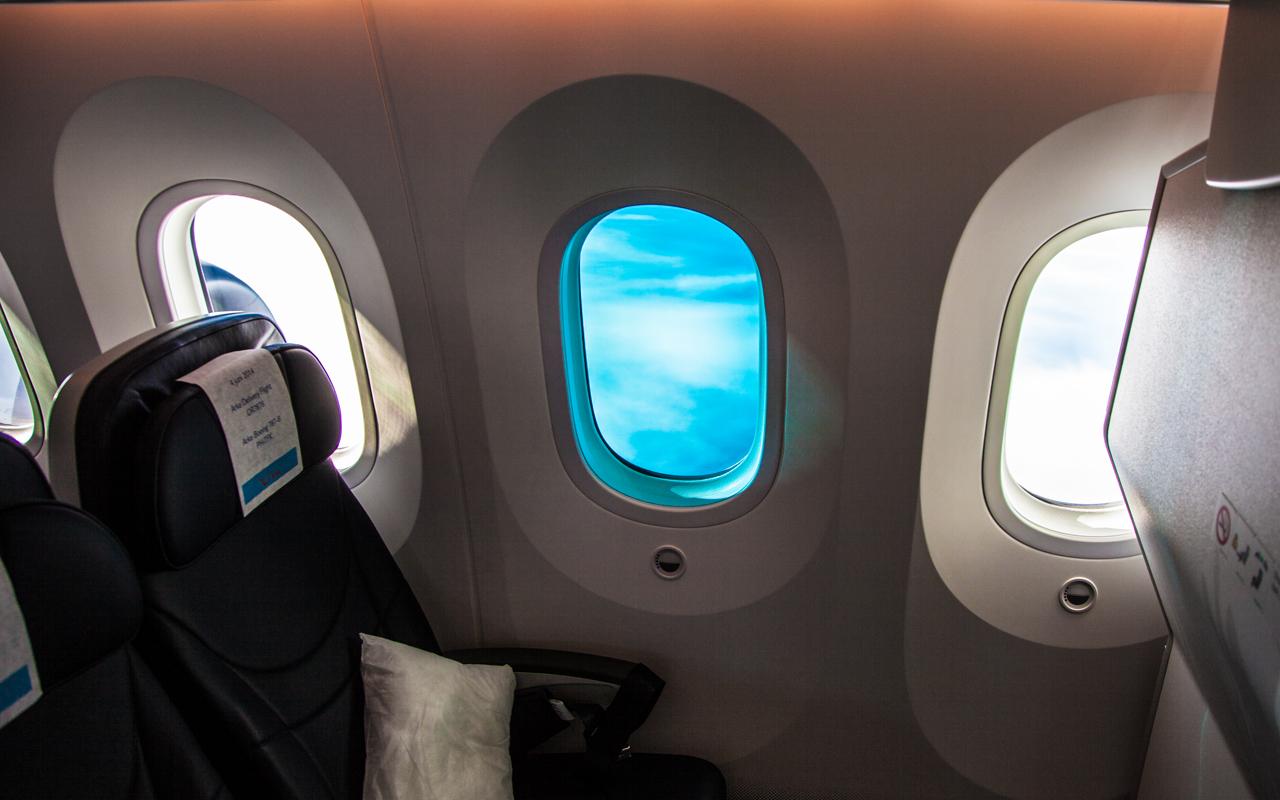 Boeing 787 Dreamliner raam